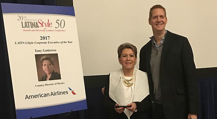Nombran ejecutiva del año a directora de American Airlines México