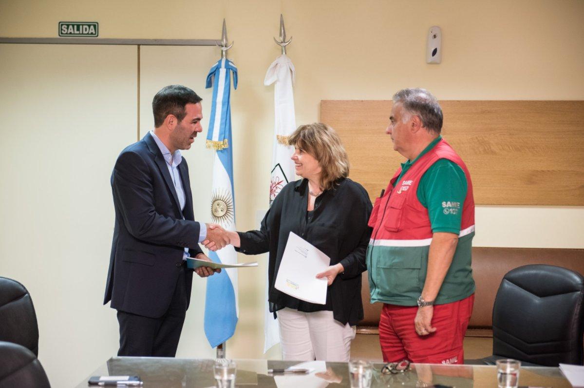 EANA y el SAME colaborarán en materia de emergencias en el marco del servicio de búsqueda y salvamento (SAR)