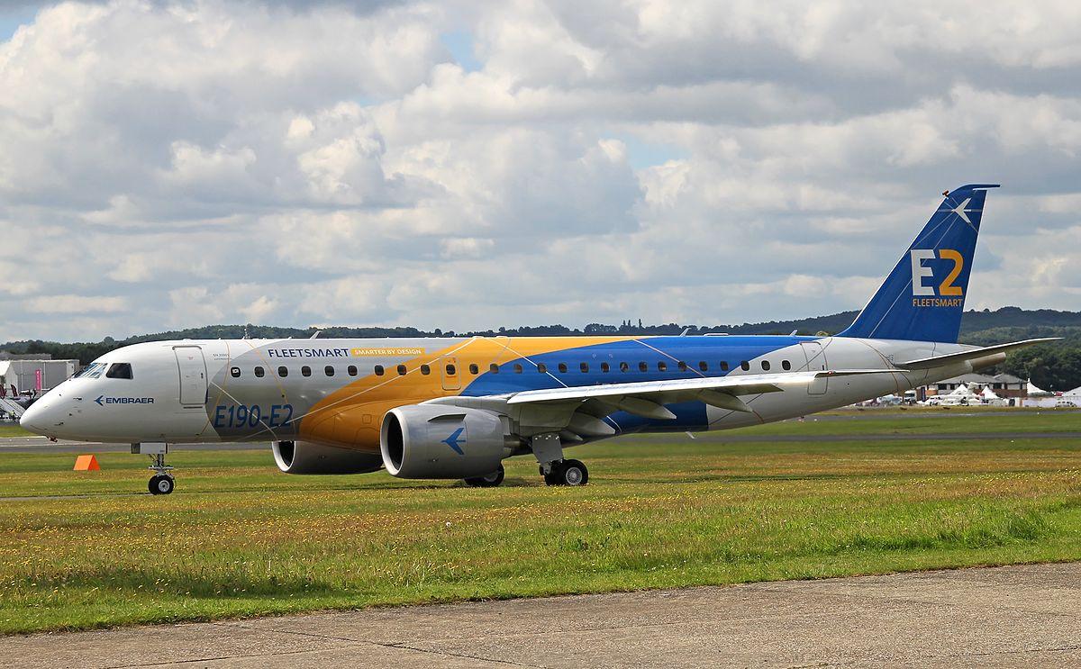 E190-E2, da Embraer, é certificado pela ANAC, FAA e EASA