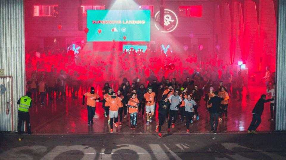 Adidas monta una sesión de running en el aeropuerto de Cuatro Vientos