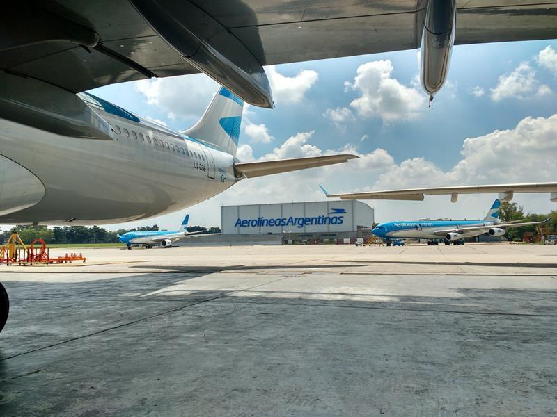 Los talleres de mantenimiento de Aerolíneas Argentinas recibieron nuevas certificaciones