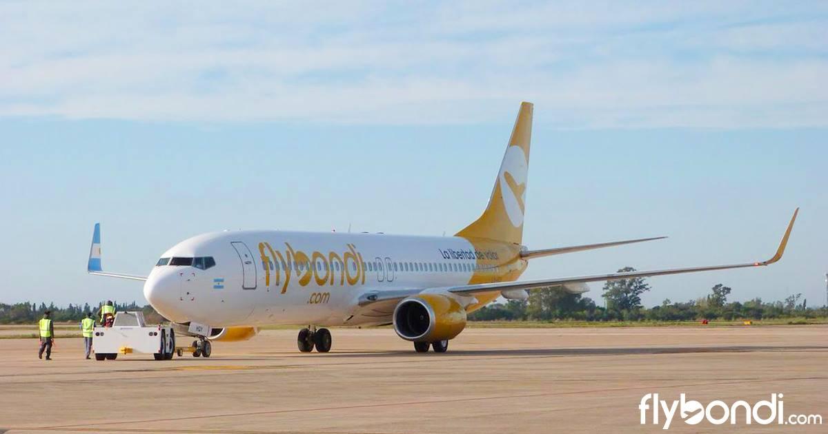 Flybondi pidió autorización para operar 361 nuevas rutas