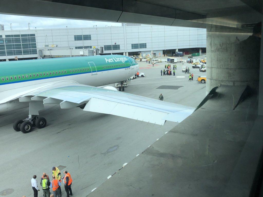 Impacta ala de un A330 de Aer Lingus contra edificio en Aeropuerto de San Francisco