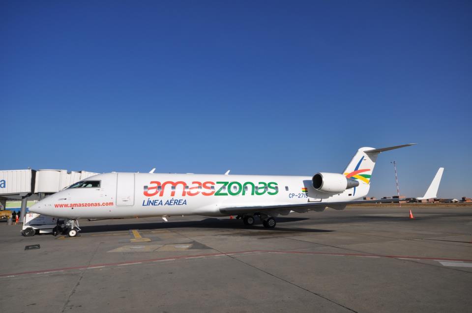 Amaszonas conectará a Santa Cruz con Río de Janeiro y Foz