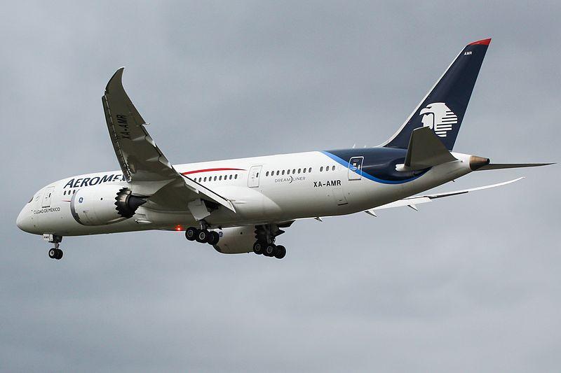 Aeroméxico volvió a trasladar turistas a Costa Rica este domingo