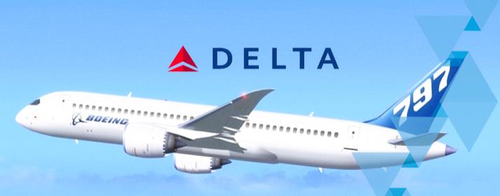 Delta quiere ser la primera en tener el futurista B797