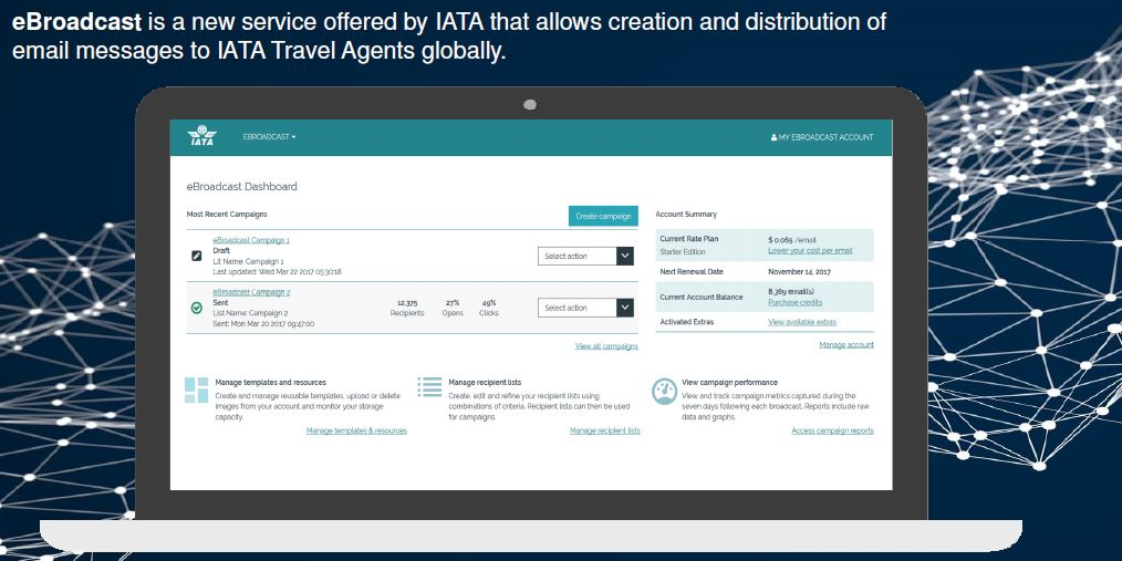 Promocione su empresa en la red de agencias de viajes más grande del mundo con IATA eBroadcast