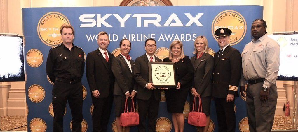 Air Canada nombrada Mejor aerolínea en América del Norte en los Skytrax World Airline Awards 2018
