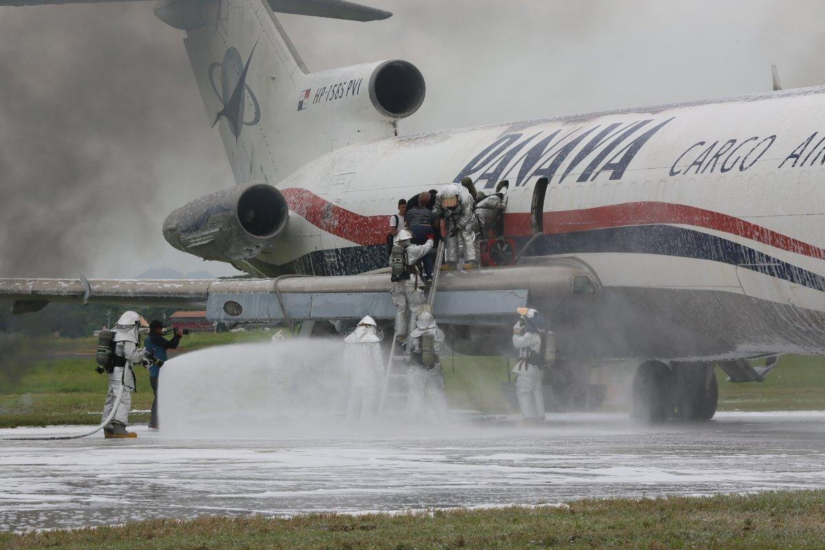 Aeropuerto de Tocumen realizó simulacro de accidente aéreo