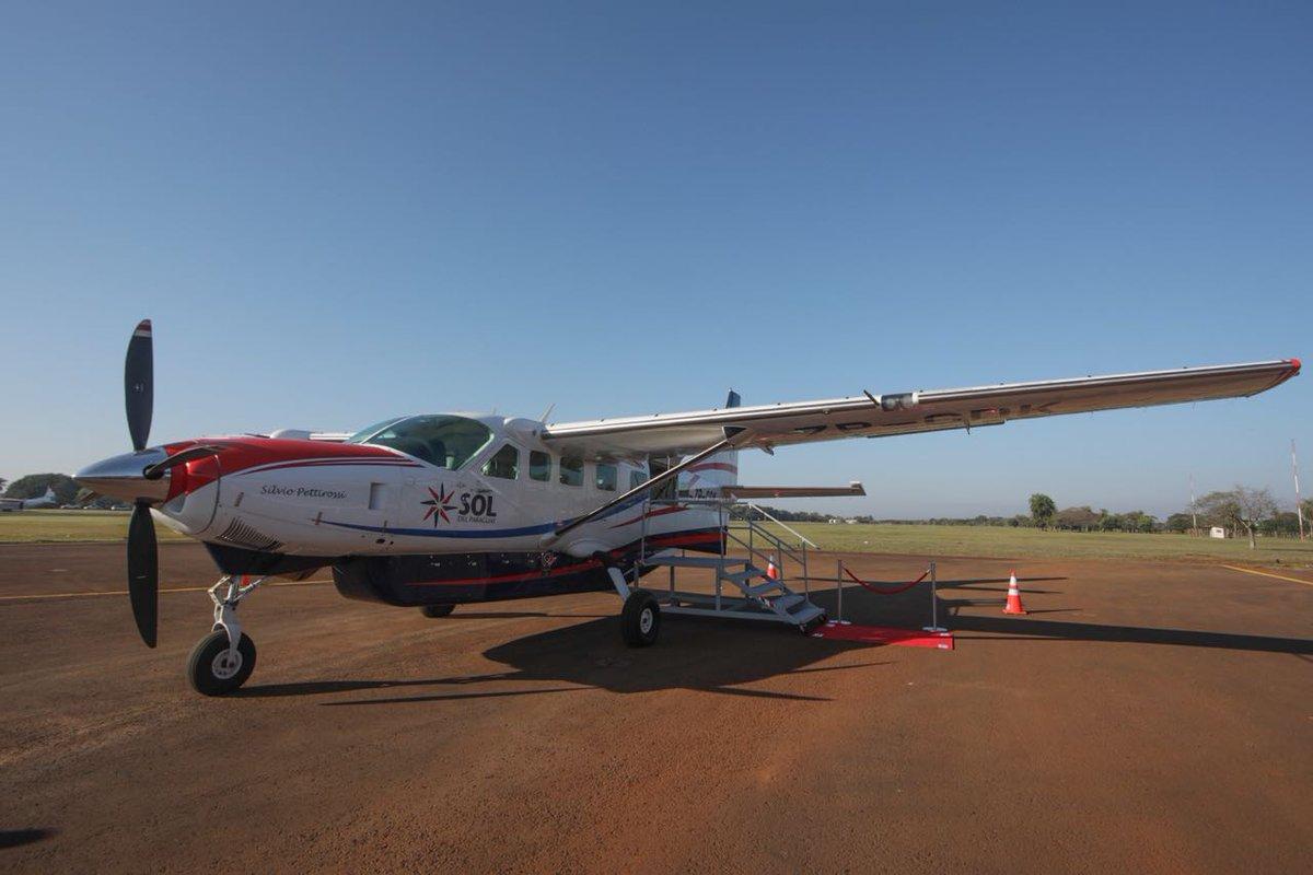 Sol del Paraguay inauguró vuelo Asunción – Hernandarias