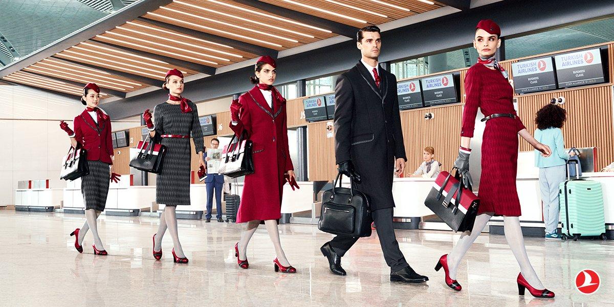 Turkish Airlines presentó los nuevos uniformes de sus TCP