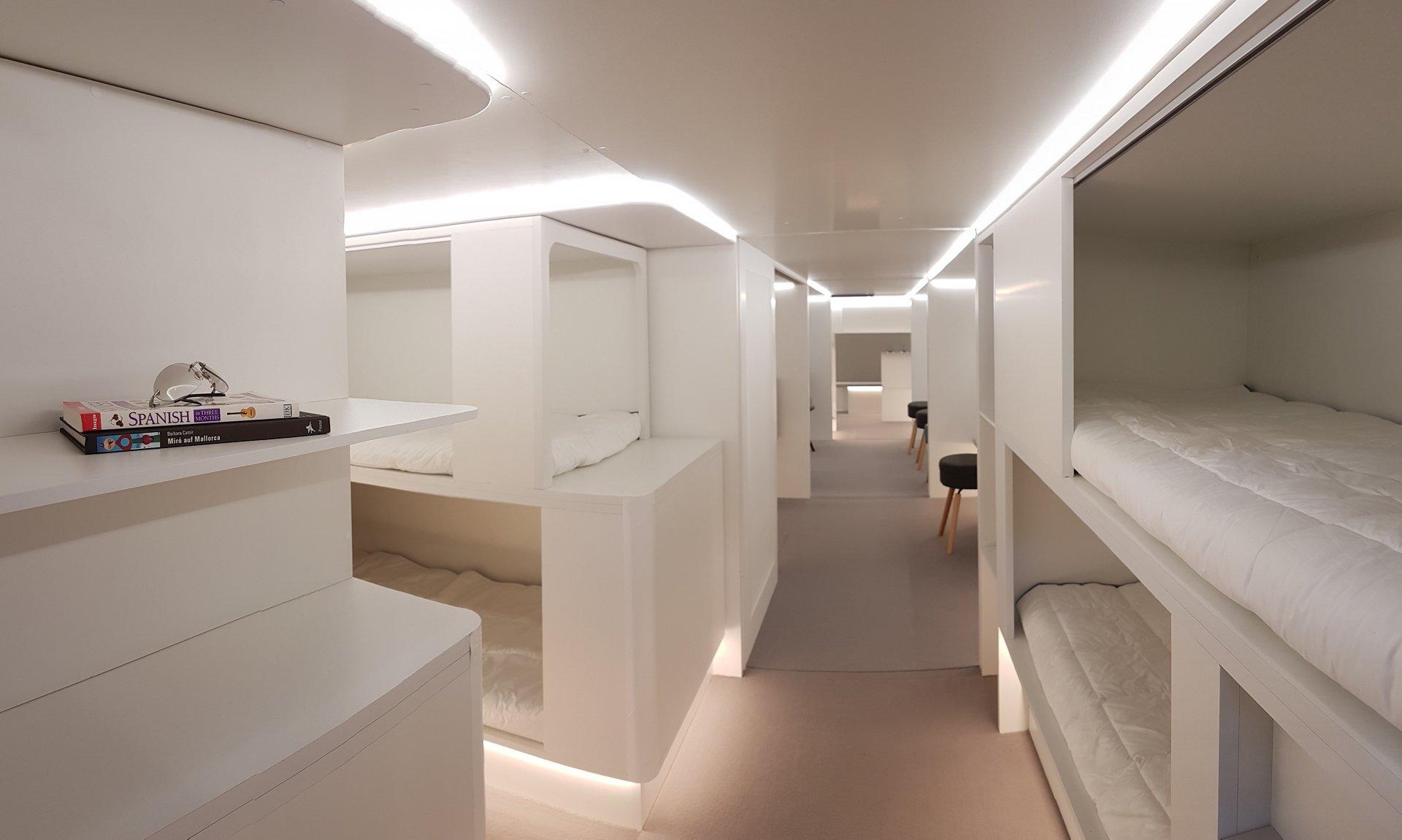 Así podremos dormir en una cama en los aviones a partir del año 2020