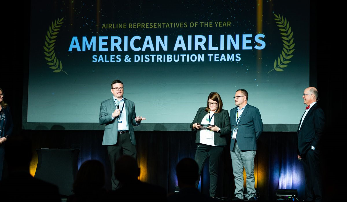 Sales and Distribution Team at American Named Airline Representatives of the Year