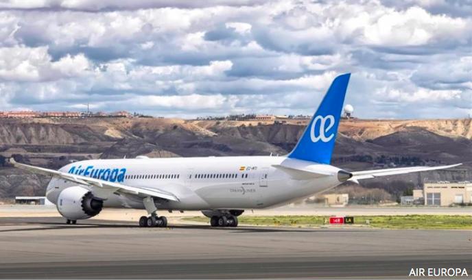 La carga aérea de Air Europa aumenta el 24% en el primer semestre 2019
