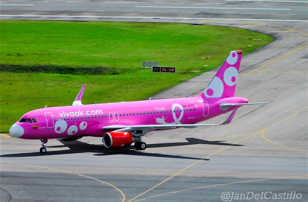 El Nuevo Avión Rosa de Viva Air