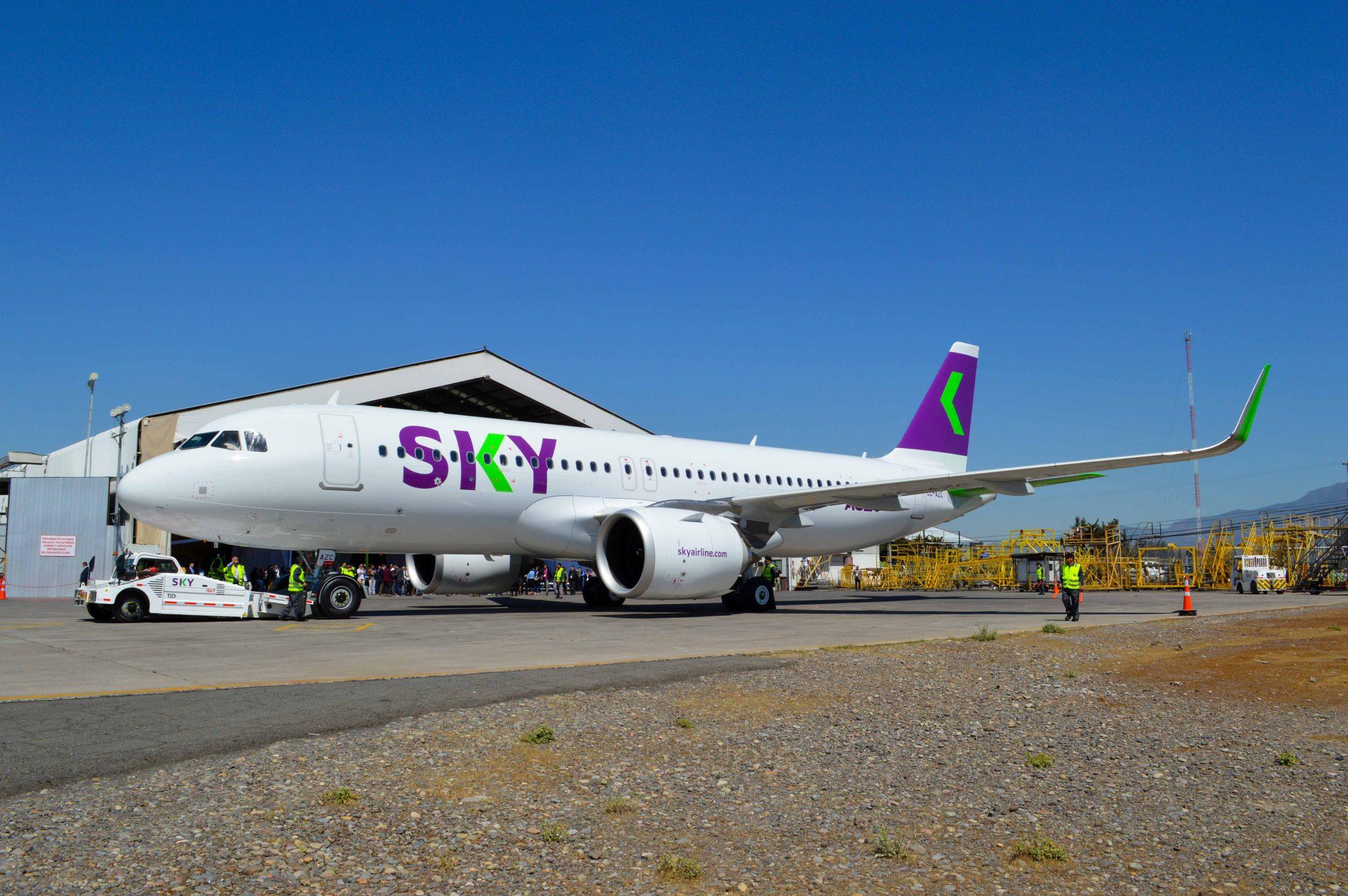Inauguran primer A320neo de la nueva flota de SKY Airline