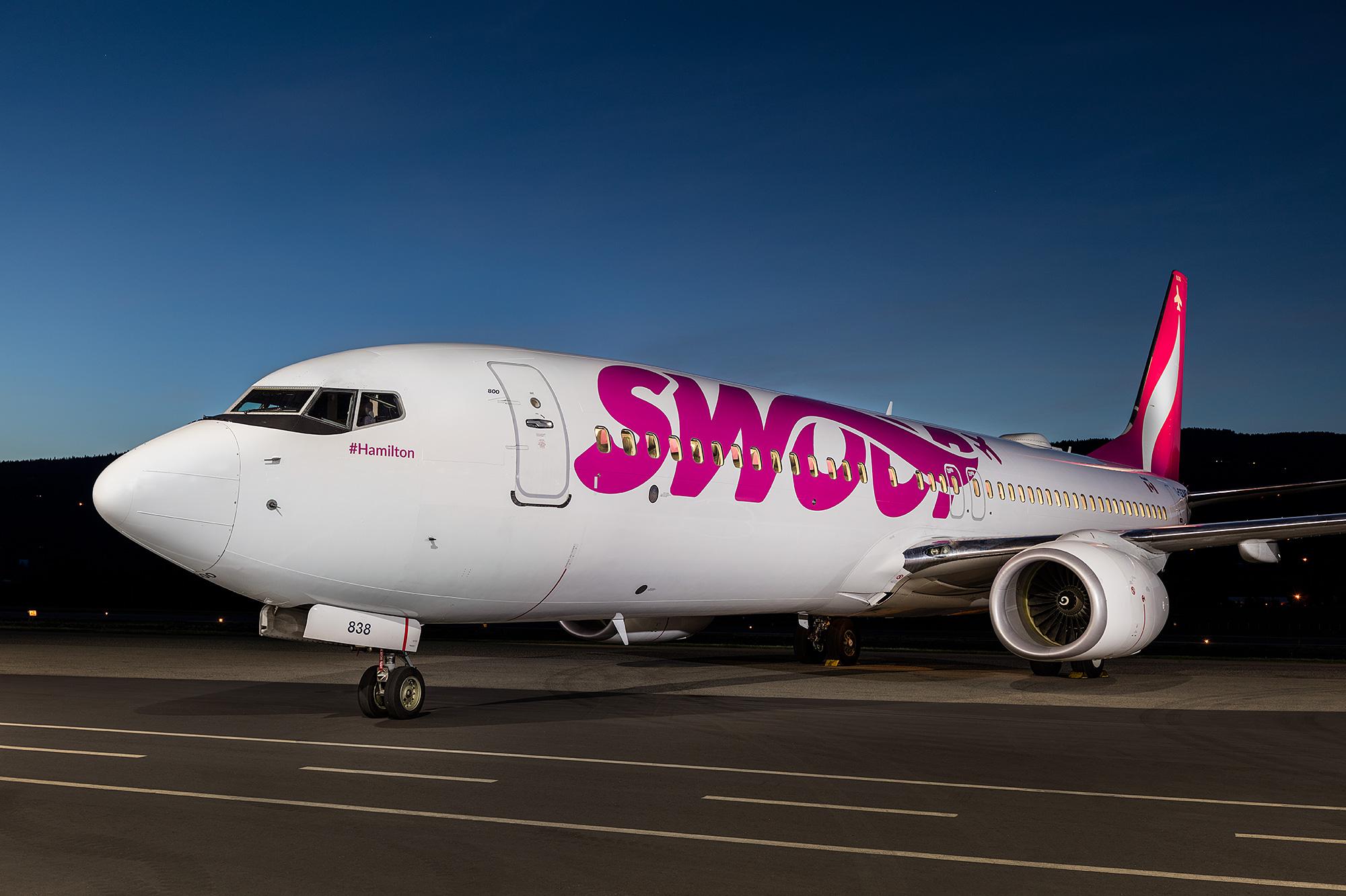 Swoop inaugura vuelos desde Edmonton a Cancún y Mazatlán