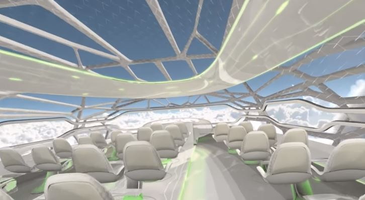 Así serían los aviones transparentes que podríamos conocer en 2050
