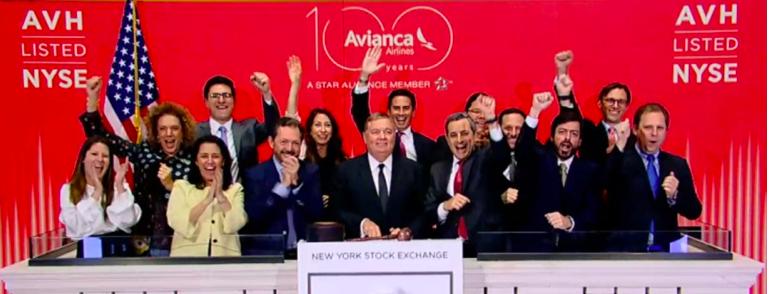 La aerolínea Avianca cumple cinco años en la Bolsa de Nueva York