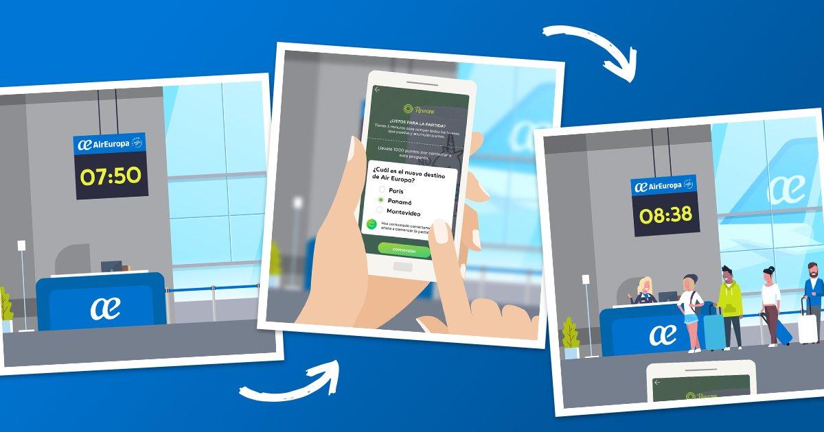 El interactivo juego de Air Europa para ganar vuelos gratis con el teléfono móvil