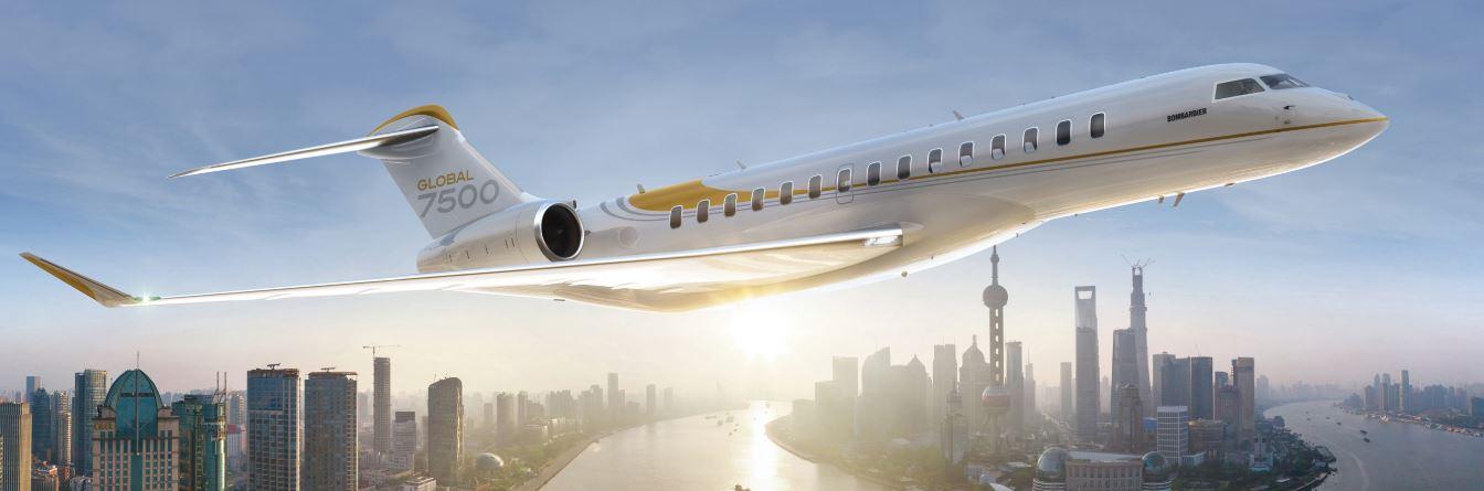 Despega el Global 7500 de Bombardier