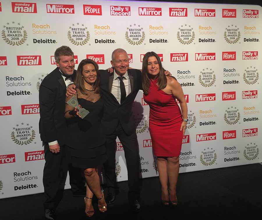 RIU Hotels & Resorts gana el premio a la mejor cadena hotelera internacional en los British Travel Awards