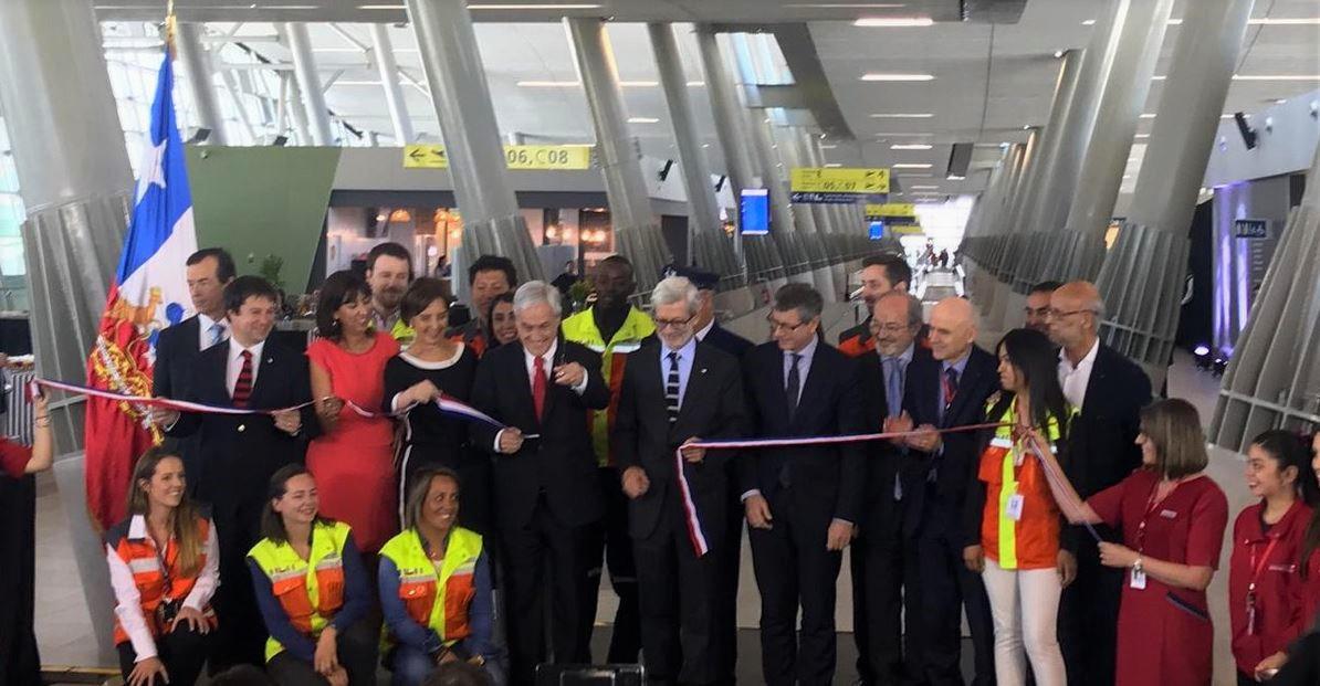 Presidente Piñera inauguró el Espigón C del Aeropuerto Arturo Merino Benítez de Chile