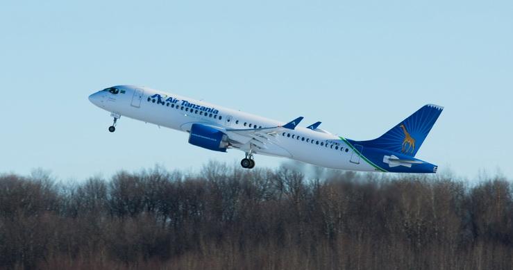 Air Tanzania recibe el primer Airbus A220 de África