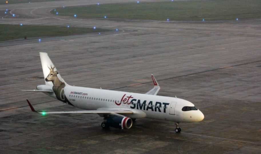 JetSMART amplía su flota con el primer avión matriculado en Argentina