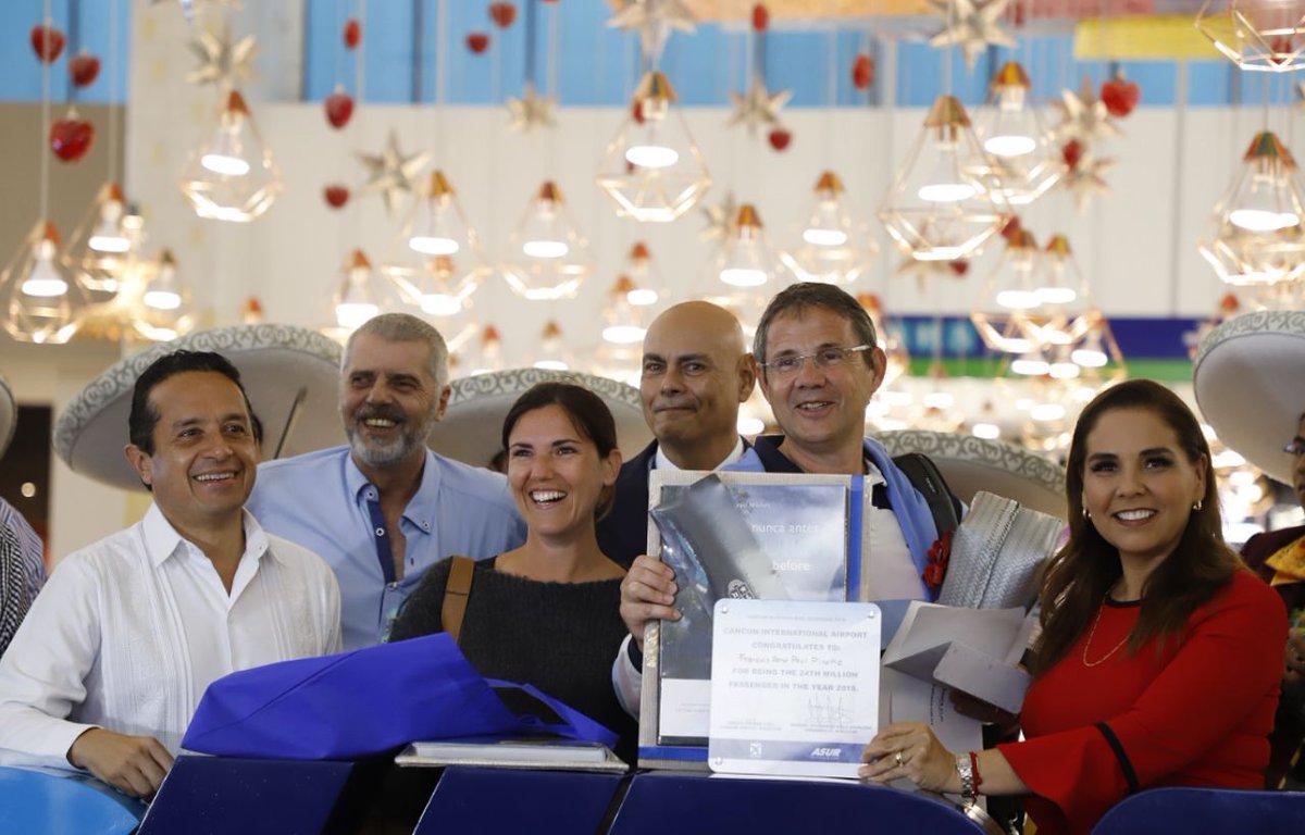 Recibe aeropuerto de Cancún pasajero 24 millones en el año