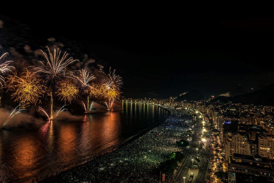 Réveillon do Rio tem recorde com 1,7 milhão de turistas, 20% estrangeiros