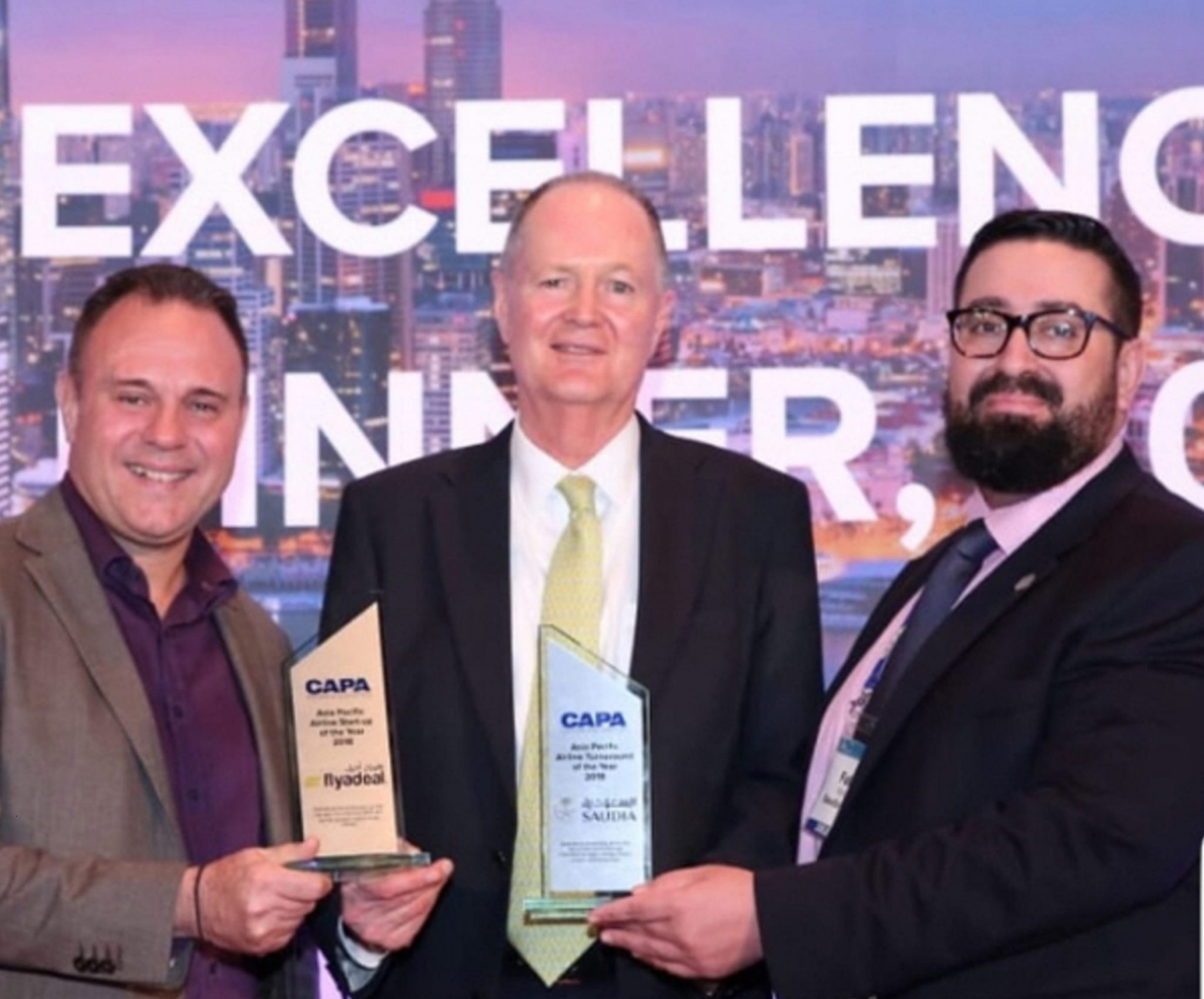 """Saudia Airlines fue galardonada como la """"Mejor Aerolínea de 2018 de Asia y Pacífico"""" por CAPA"""