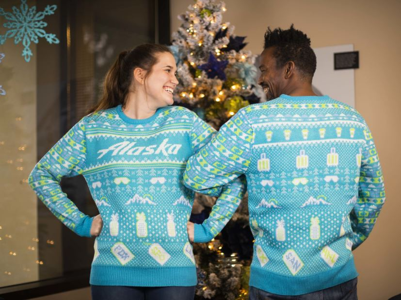 Alaska Airlines Launches Annual Holiday Sweater Priority Boarding