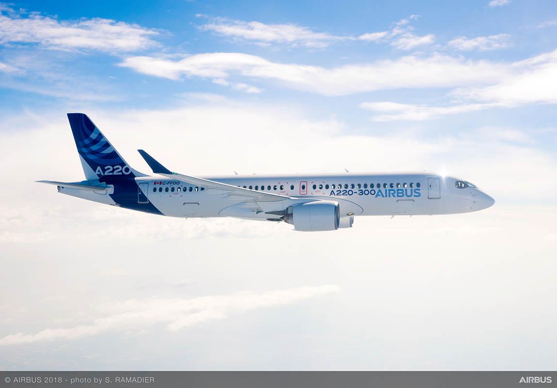 Airbus convierte en éxito de ventas el programa A220 un año después