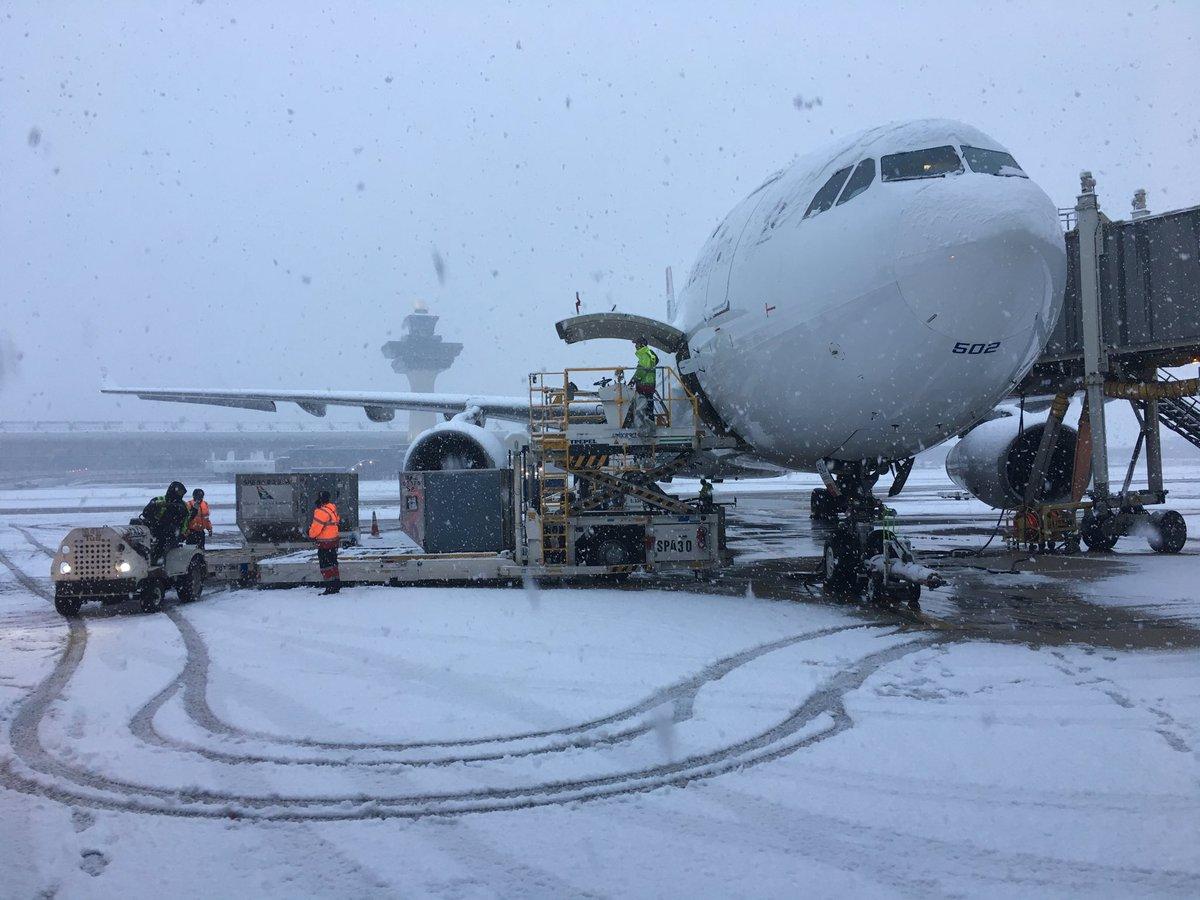 Cómo se descongelan los aviones frente al frío extremo