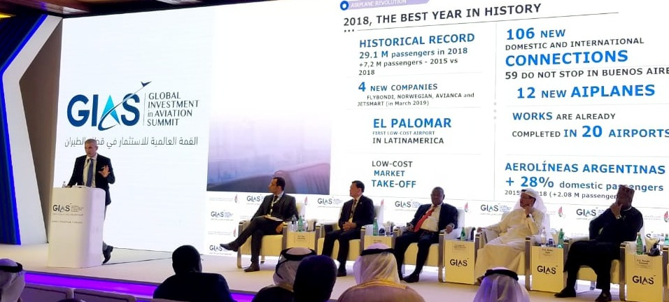 La ANAC expuso los avances en materia aerocomercial en el Global Investment in Aviation Summit de Dubai