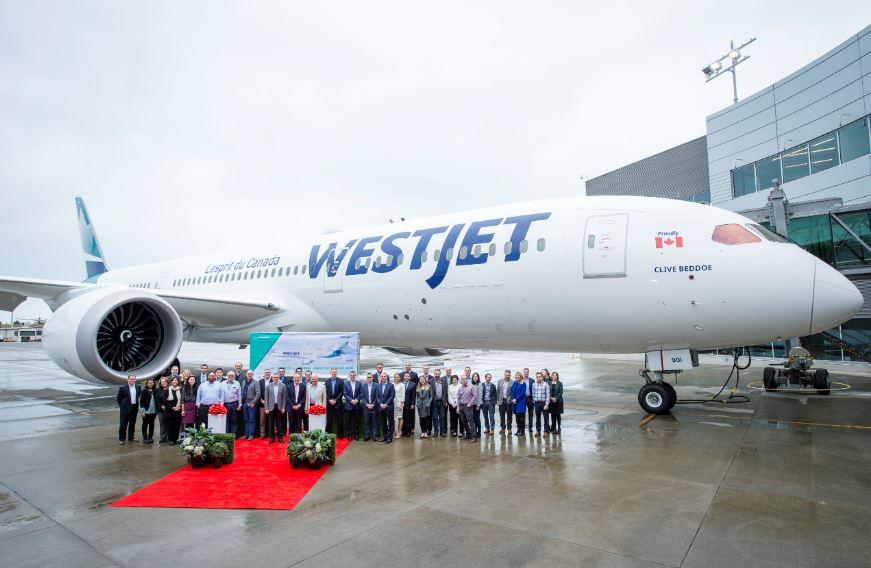 WestJet recibe su primer Boeing 787-9 Dreamliner