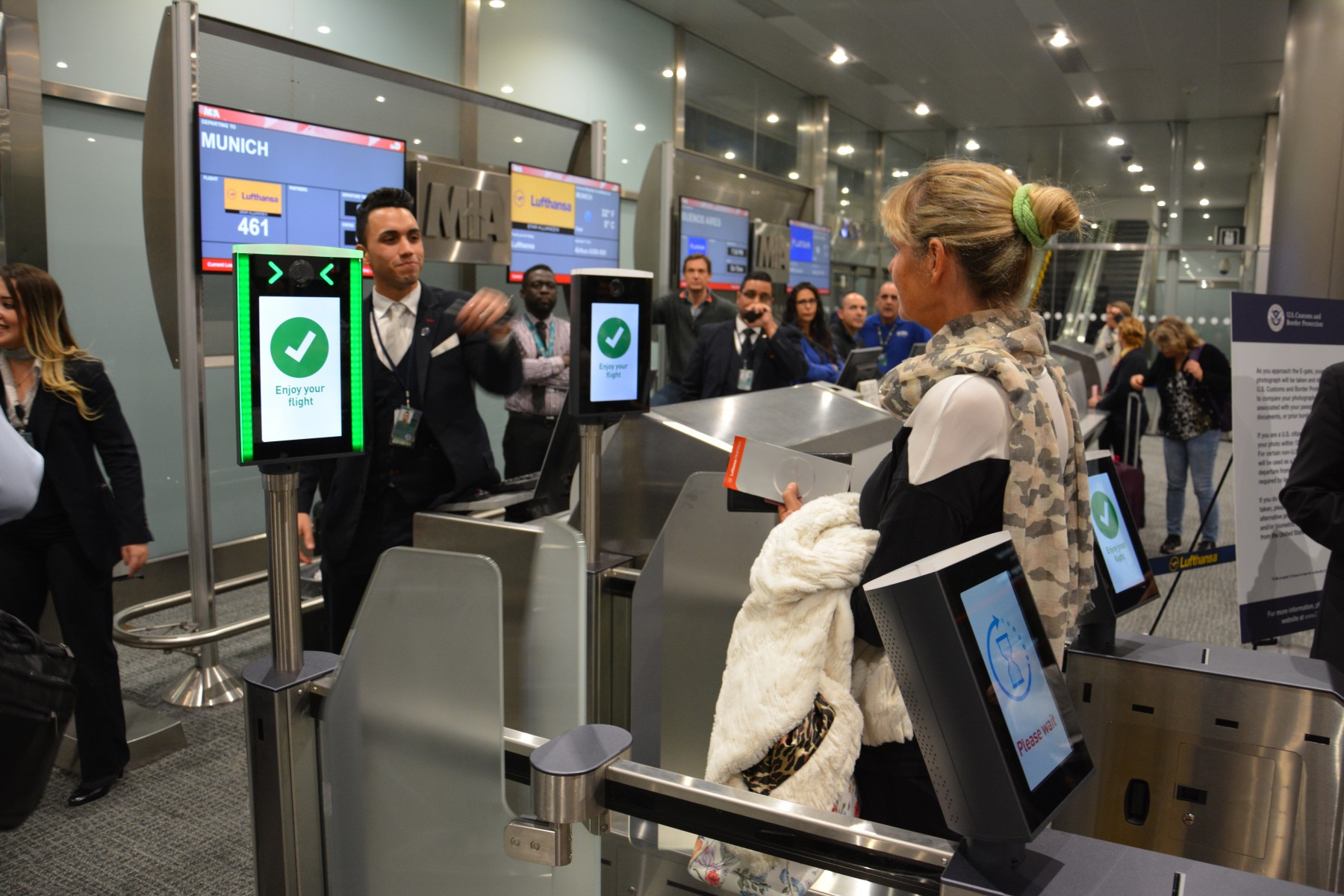Lufthansa launches biometric boarding at Miami International Airport