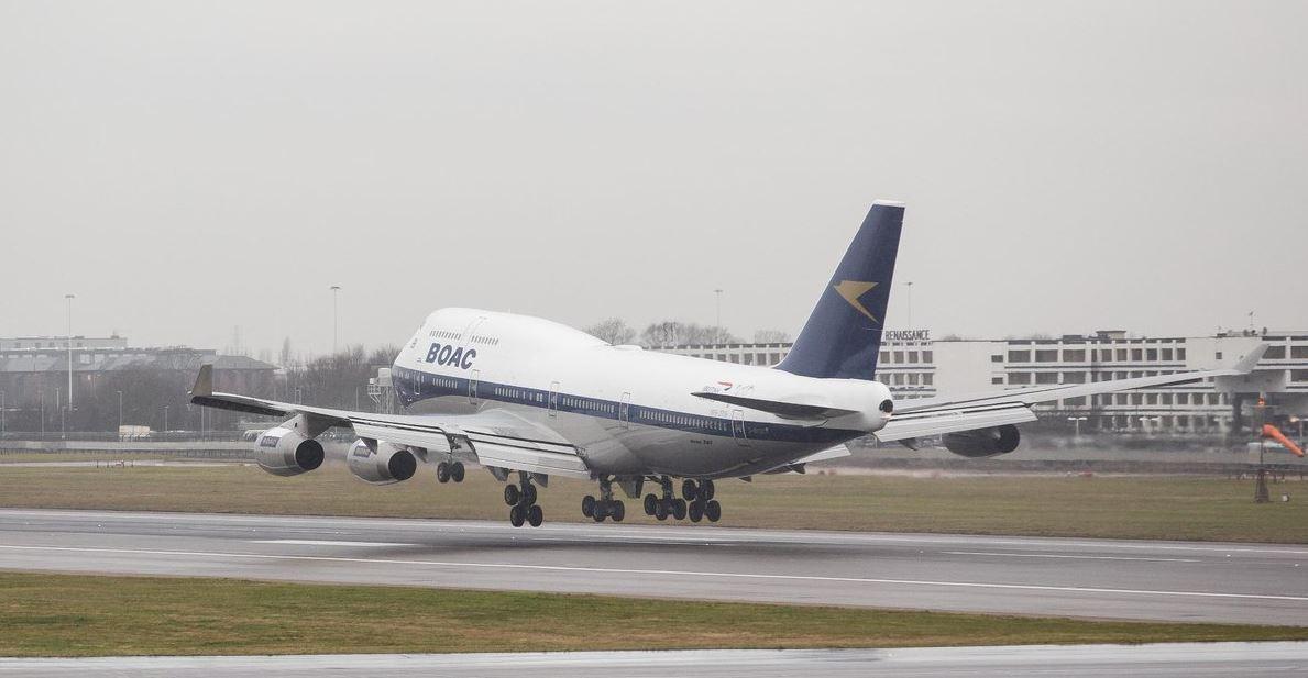 British Airways celebra sus 100 años con un Boeing 747 retro