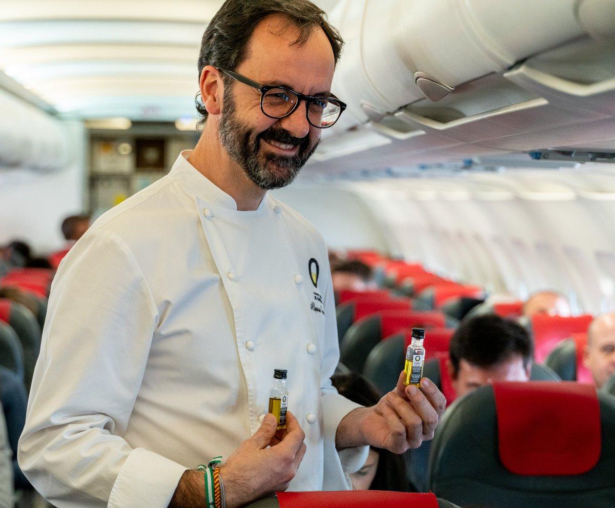 Iberia: cata histórica de aceite de oliva en un vuelo Madrid-Londres