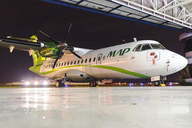 MAP Linhas Aéreas realiza voo inaugural de nova aeronave ATR 72-500