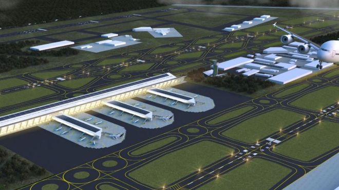 Santa Lucía airport cost projected to be 12% of the one that was canceled