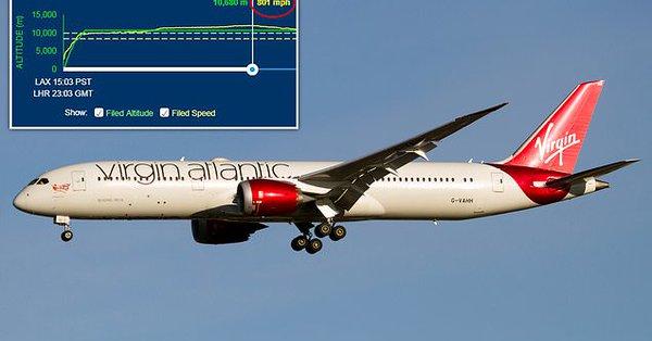 Récord: un avión de Virgin rebasa la velocidad del sonido