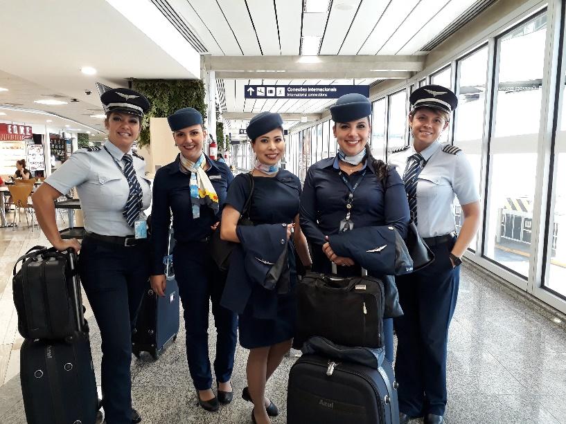 Azul comemorou o Dia Internacional da Mulher com voos com tripulação 100% feminina