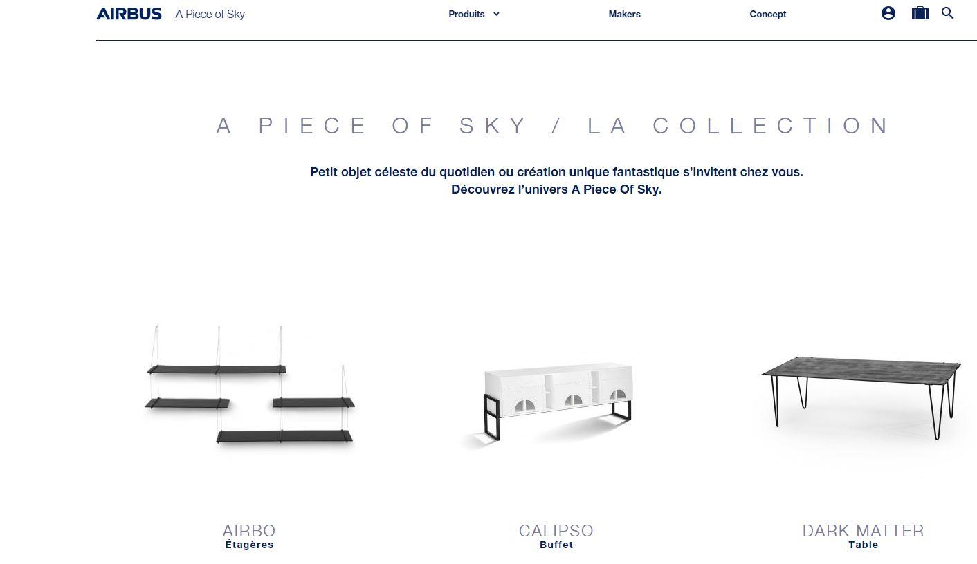 Airbus venderá muebles hechos con partes de aviones