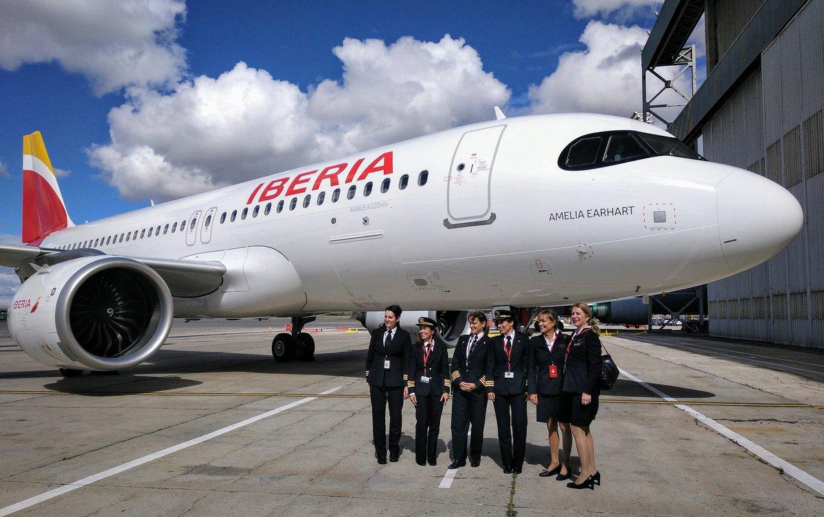 """Iberia nombró """"Amelia Earhart"""" uno de sus Airbus A320neo"""