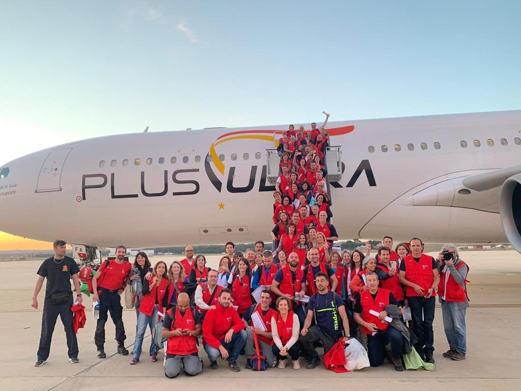 Un avión de Plus Ultra Líneas Aéreas llegó a Mozambique con ayuda humanitaria