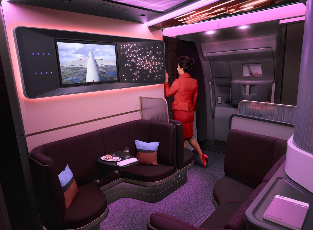 Virgin Atlantic debuts Airbus A350 upper class redesign