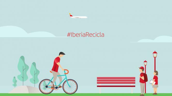 Iberia espera recuperar el 80% de los residuos generados en los aviones