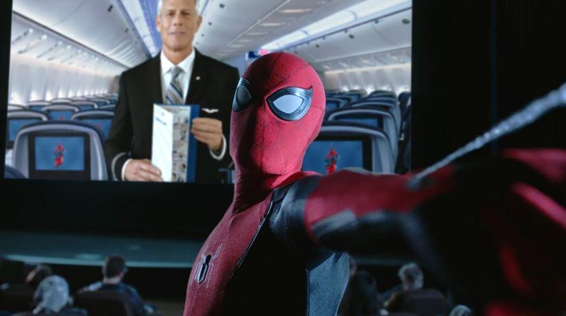 Spider-Man protagoniza video de seguridad a bordo de United Airlines
